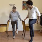 Ga naar oefening knie heffen