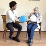 Ga naar oefening balanceren op de hand
