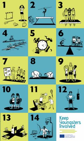 illustration of all 14 factors