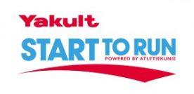 Logo yakult start to run powered by atletiekunie